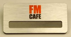"""Бейдж """"FM cafe"""""""