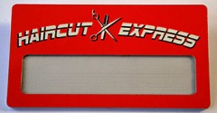 "Бейдж ""Haircut express"""