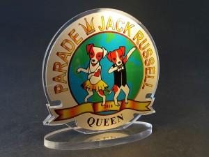 Акриловый приз с полноцветной печатью на металле