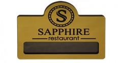 """Бейдж """"Sapphire"""""""
