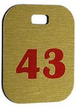 Брелок номерний, 43