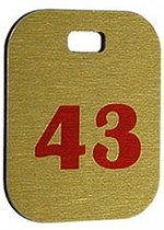 Брелок номерной, 43