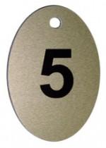 Брелок номерний, 5