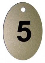 Брелок номерной, 5