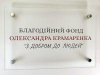 Табличка стеклянная